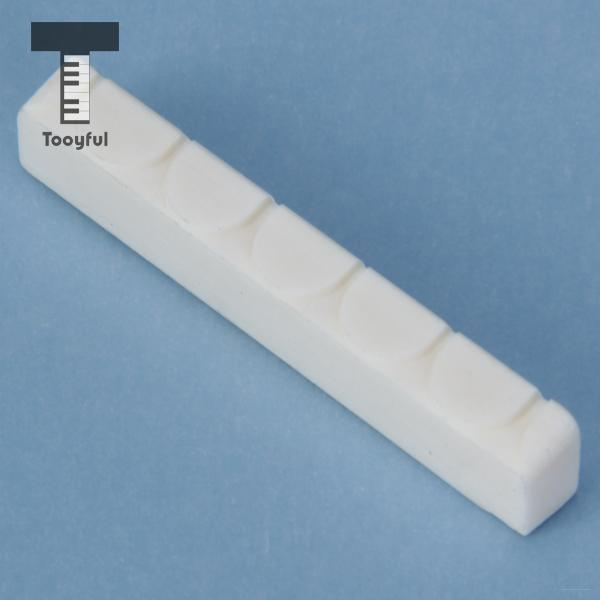 Tooyful High Quality A White Replacement Buffalo Bone Bridge Saddle And Nut Set for Classical Professional Brand Guitar Lovers