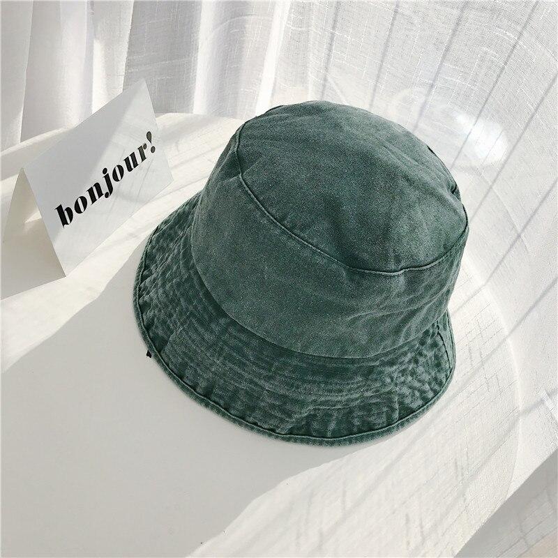 Vintage Bucket Hat Women Outdoor Sports Hip Hop Cap Summer Hats Washed Cotton Fishing Sun Hat Panama For Girls Men Flat Caps in Men 39 s Bucket Hats from Apparel Accessories