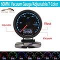 HB 7 Farben in One: 60mm Multi D/A LCD Display Vakuum Gauge Racing Auto Vakuum Meter/Manometer-in Turbolader & Teile aus Kraftfahrzeuge und Motorräder bei