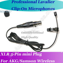 MICWL a Professional Microfone Lavalier para Lapel Microphone for Wireless Beltpack with XLR Mini 3Pin Plug micwl me2 pro microfone lavalier para lapel microphone for akg samson gemini wireless xlr mini 3 pin