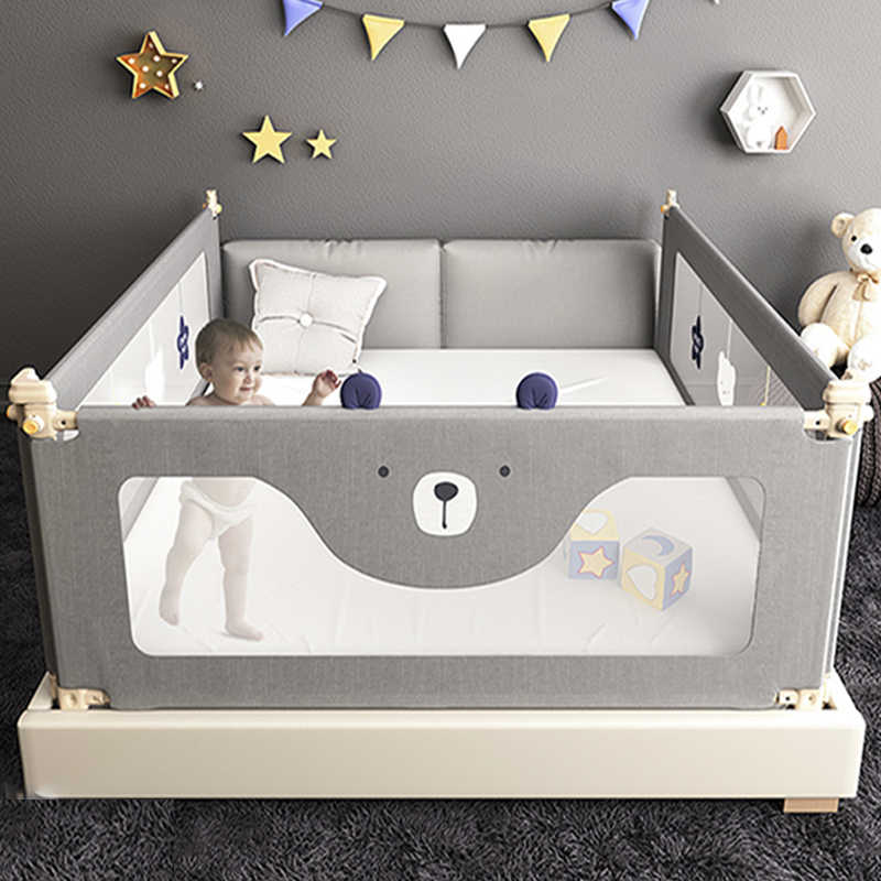 Star bear baby bed fence Baby shatterproof protective bed rail child safety against 1.8-2 meters bedside baffle bed guardrail
