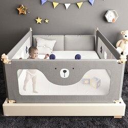 Stern bär baby bett zaun Baby bruch schutzhülle bett schiene kind sicherheit gegen 1,5-2 meter nacht schallwand bett leitplanke
