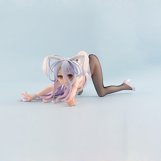 New No Game No Life Shiro Sexy PVC Action Figure 1/4 scale painted figure Bunny Ver. Toy Gifts no retail box (Chinese Version) 1