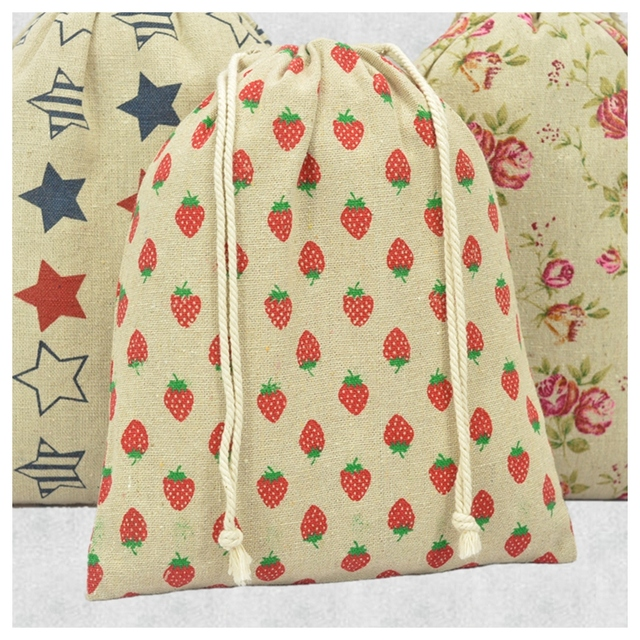 Aliexpress.com : Buy 10pcs Women Cotton Small Drawstring Printing ...