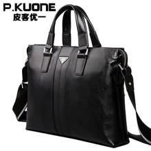 European style Document file Vintage Men laptop Bags men's genuine leather briefcase pasta executiva masculino maletin hombre