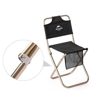 Image 3 - Сверхлегкий складной мини стул Naturehike, портативное уличное кресло для рыбалки на луну, кемпинга, пеших прогулок, стул для барбекю, расширенный