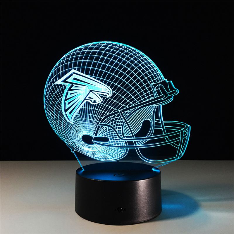 Atlanta Falcons 3D Night Light table desk Lamp light 7 Colors Change USB LED Table Lamp Gift Creative Night Lamp Home Decoration
