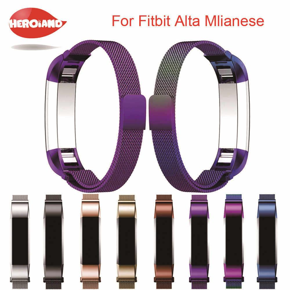 12mm yüksek kaliteli saat band bilek kayışı Değiştirme Milanese Manyetik Döngü Paslanmaz Çelik manyetik Kilit Band Fitbit Alta