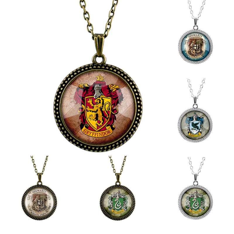 Cosplay Hogwarts Dumbledore Magic School Admission badge Necklace Toy Children Party Collection Decoration Creative Gift