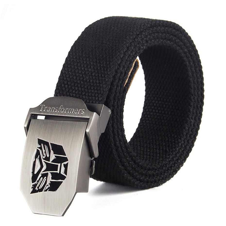 Hombres cinturón automático hebilla cinturón táctico lienzo cintos cintura  Correa tácticas REM Vaqueros cinturones para hombres d4ad186b171d