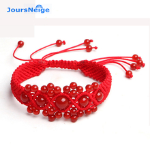 JoursNeige Handmade Animal Year Red String Rope Cord Red Crystal Lucky Bracelet for Women Bracelets Jewelry Accessories