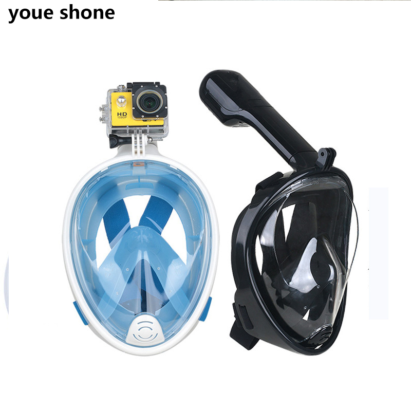 youe shone Sports Camera Diving Mask Tauchmaske Scuba Dive Snorkel Mergulho Video Accessories for gopro eken h9r action camera маска на все лицо