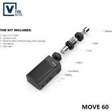 electronic cigarette 2100mAh Vivakita vape Move 60 KIT built in battery 60W vaporizer kit 2.0ml atomizer fit 510 thread box mod original 60w ijoy elite mini kit w rdta box mini mod 60w