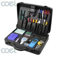 KOMSHINE FTTH Fiber Optic Toolkit w/ FC 6S Fiber Cleaver Miller CFS 2 Fiber Stripper,Power Meter