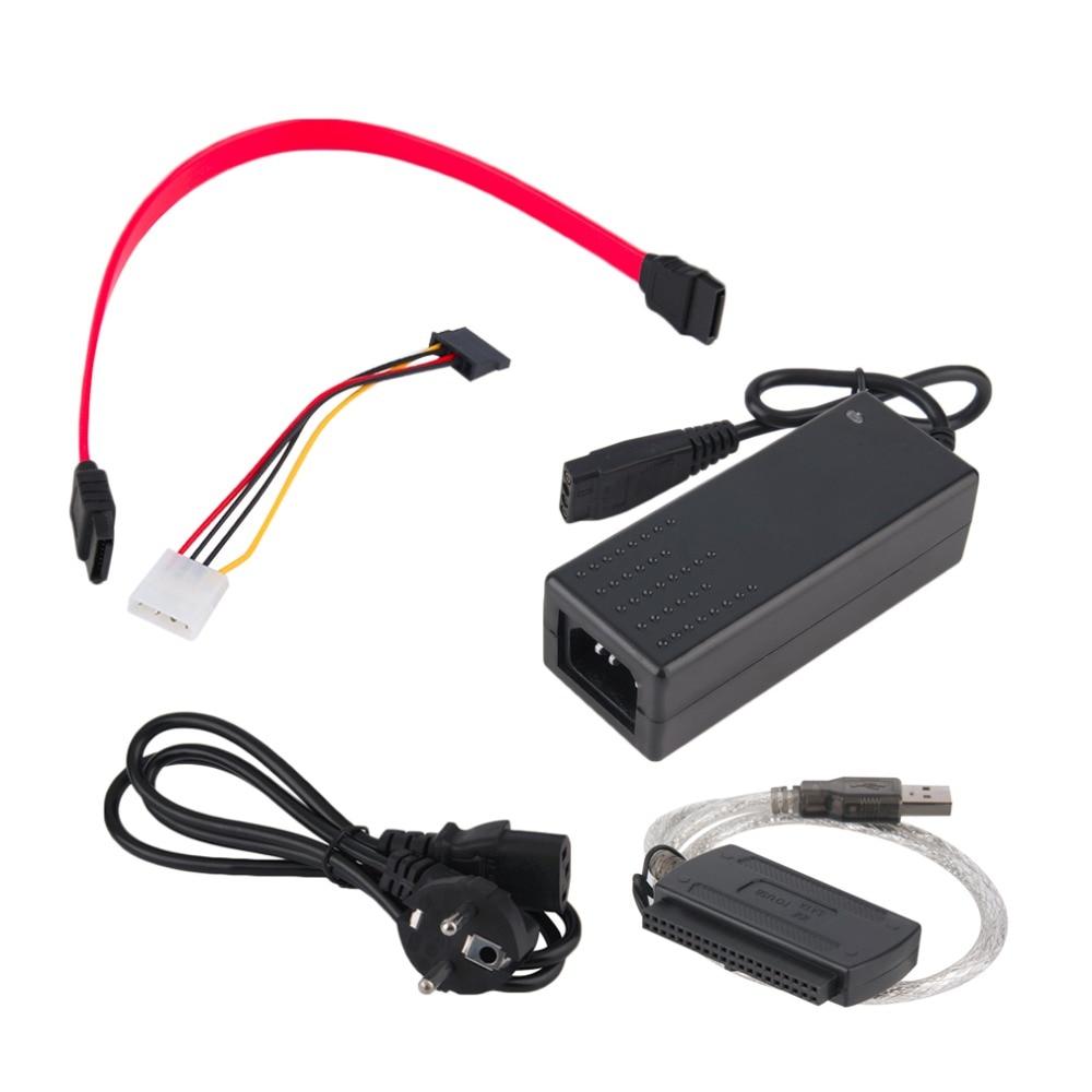 New USB 2.0 to IDE SATA S-ATA 2.5 3.5 HD HDD Hard Drive Adapter Converter EU Plug