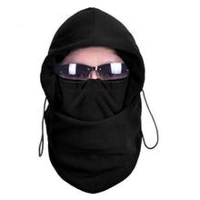 Men's Winter Hat Thermal Fleece Balaclava Hat Hooded Neck Warmer Motorcycle Helmet Beanie Masked Cap Mask Bonnet
