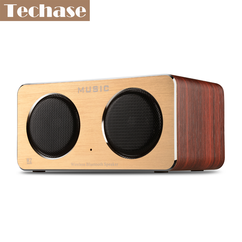 Une Enceinte Bluetooth Us 39 99 Techase Enceinte Bluetooth Hifi Music Bluetooth Speaker Wooden Caixa De Som Amplificada Tf Aux Portable Puissant Mp3 Player Som In Portable