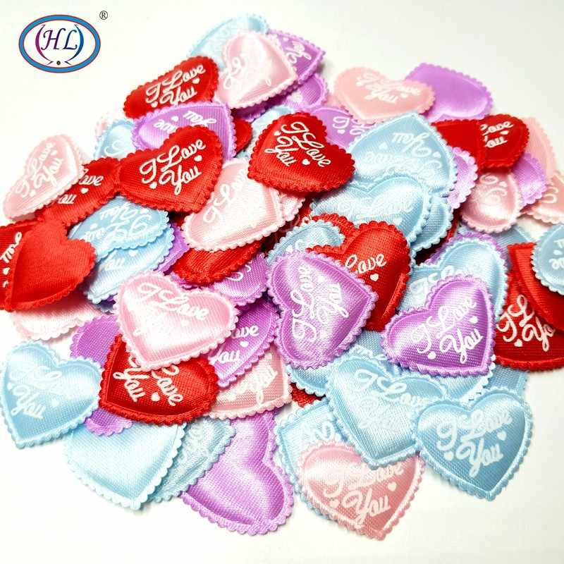 Valentines Day and Other DIY Crafts! Engagement Parties Decoration for Weddings Blue 100pcs Mini Satin Padded Hearts