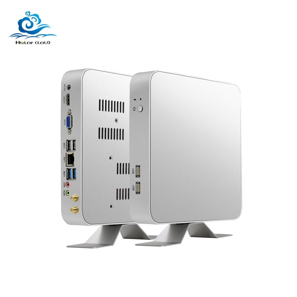 HLY Core i7 7500U i7 6500U Мини ПК Windows 10 16 Гб DDR3L Оперативная память 1 ТБ HTPC Nuc minipc HDMI Wifi usb игровой Мини компьютер i7 ПК