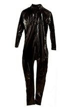 Costume sexy avant Vinyle PVC cuir avec fermeture eclair Clubwear Combinaison Deguisements Zipper adultes