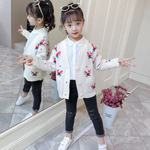 2019 Autumn Winter Wear Girls Sweaters Baby Jacket Children Clothing Knitted Cardigan Sweater for Kids Clothes 4 6 8 10 12 Years цена 2017
