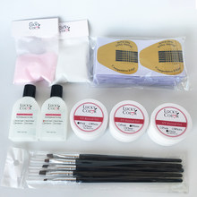 Crystal Nail Extension Glue For Acrylic Nails Art Manicure Builder Gel Set With Powder Color and Acryl Liquid Kits(China)
