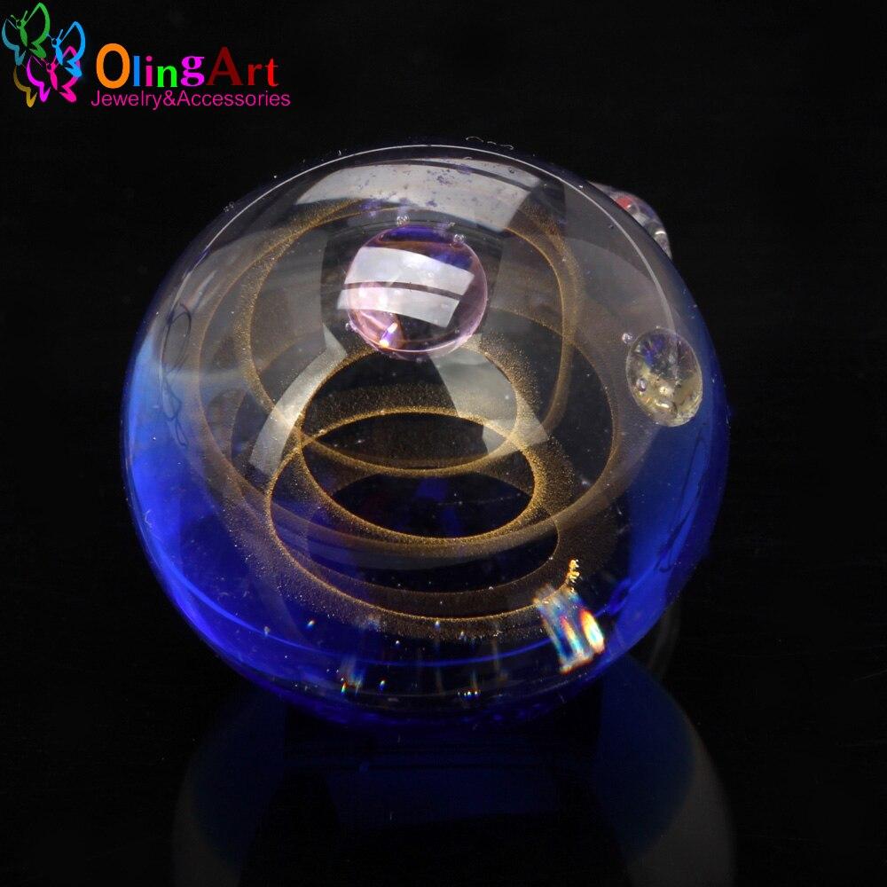 2018 neue Lampe arbeit perlen 1PCS Dia 23MM Runde Fantastische Starry Milchstraße form Hand made glas Anhänger DIY Schmuck machen