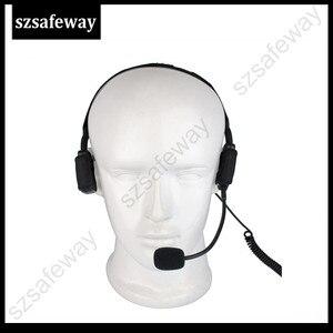 Image 3 - سماعات رأس تكتيكية توصيل عظمة عسكرية مع ميكروفون بوم لراديو كينوود باوفينج UV 5R Wouxun اتجاهين