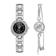 Bracelet Watches Set Women Gift Luxury Diamond Dial Jewelry Quartz Watches montre femme Lady Silver Steel Belt Watch reloj mujer