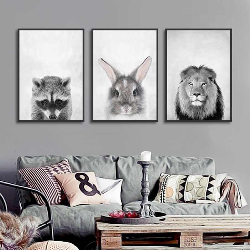 Современный подвесной постер с животными на стене печать Картина на холсте домашний настенное Искусство граффити Спальня украшение комнаты на заказ