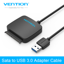Vention Sata Adapter Cable USB 3.0 to Sata Converter 2.5 3.5 inch Super Speed Hard Disk Drive for HDD SSD USB 3.0 to Sata Cable