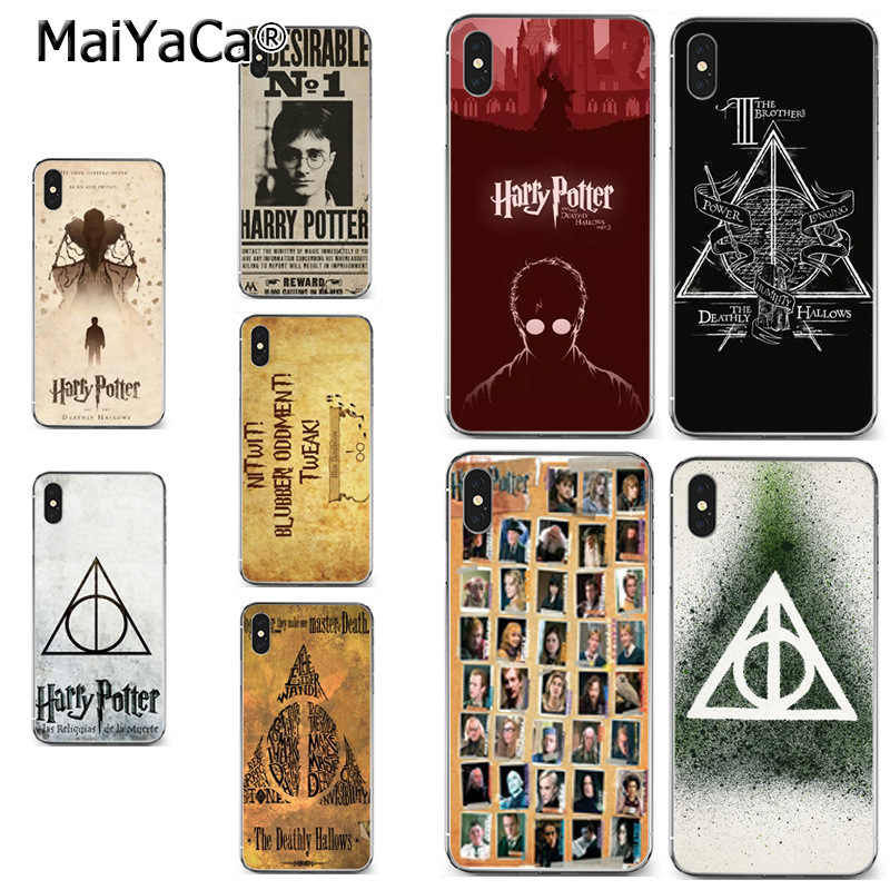 MaiYaCa Harry Potter Deathly Hallows Always soft tpu phone case cover for iPhone X XS MAX 5 6SPLUS 7 8plus case Coque funda