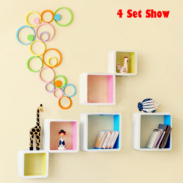 50pcslot 3d round wall sticker house decorative 3d round wooden wall art stickers
