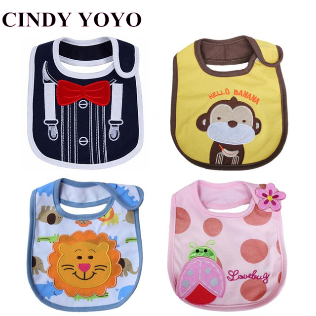 Newborn Baby Bibs Waterproof Cotton Saliva Towels Bebes Boys Girls bibs Bebes Feeding Wear Baby Clothes Cartoon Accessories