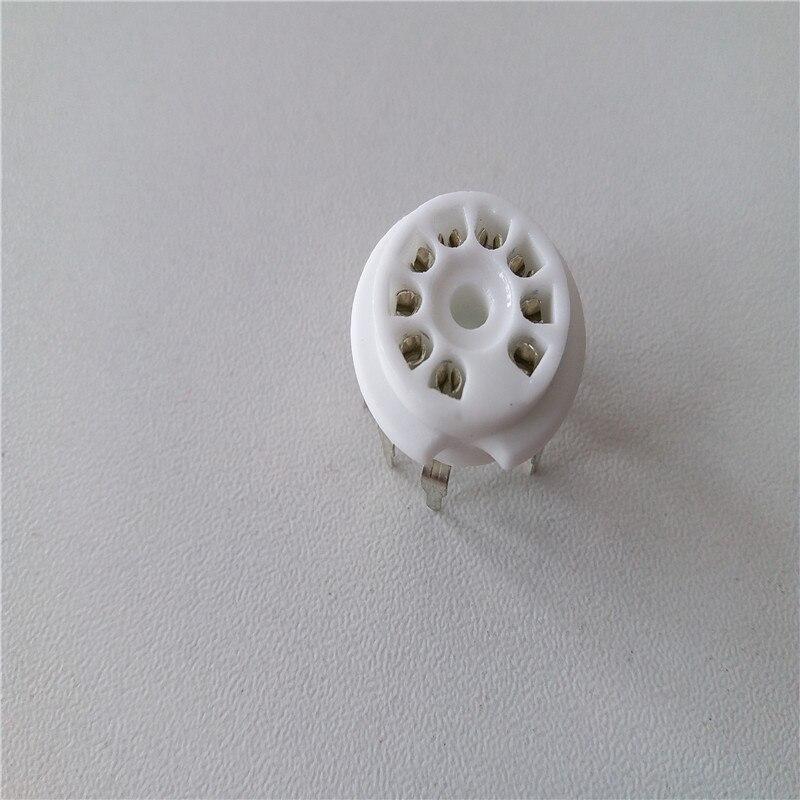 10 Pcs Keramische Buis Socket Bass Tube Socket Gzc9-b1 9 Pin Zilveren Voet Voor 12ax7 12au7 Buizenversterker Chinese Smaken Bezitten