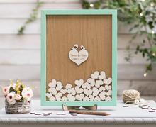 personalize love birds Wedding drop box guest book frame, 3D Guest book, Drop box guest book, Unique guest book, Heart drop box