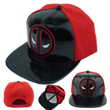 Superhero Deadpool Hat Adjustable PU And Canvas Baseball Snapback Caps Hip  Hop Hats For Men Women 0affc6252334