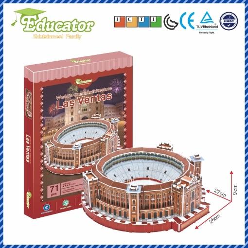 World Famous Architecture Spania 3D Puzzle Buliding Model LAS VENRAS DIY Jocuri Puzzle Souvenir