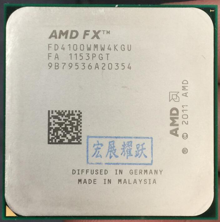AMD FX-Série FX-4100 AMD FX 6100 Quad-Core AM3 + CPU FX4100 FX 4100 100% fonctionne correctement Processeur de bureau