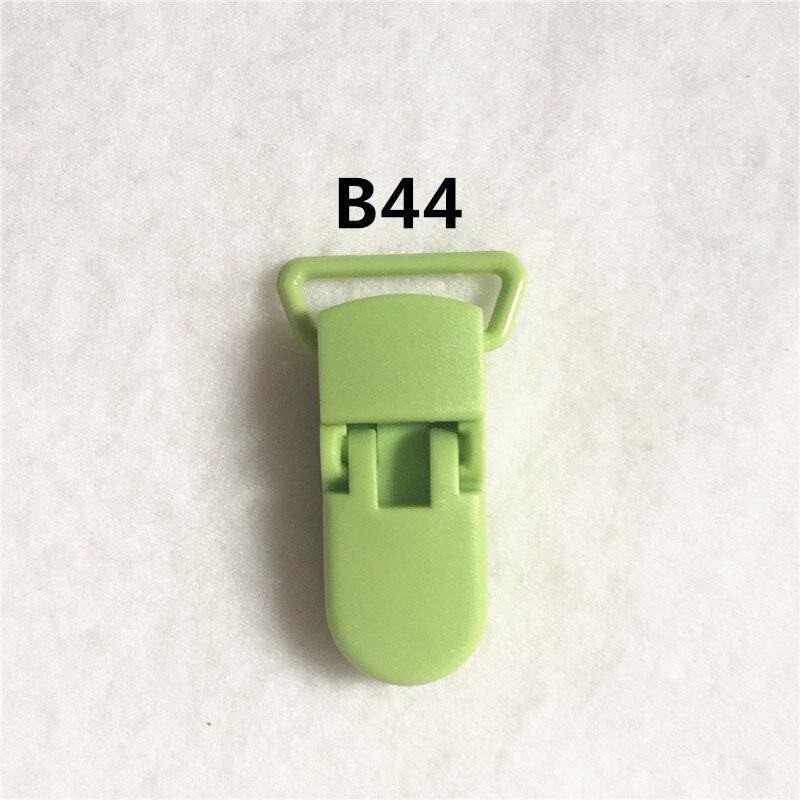 20 цветов) DHL 200 шт. 20 мм КАМ Пластик маленьких Соски NUK MAM пустышка Chain Зажимы чулок Зажимы - Цвет: B44