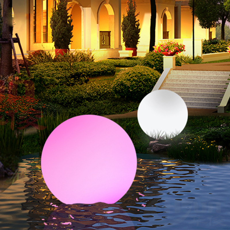 Remote Control Outdoor LED Garden Lights Lighting Ball Glow Lawn Lamp Rechargeable Swimming Pool Wedding Party Holiday Decor