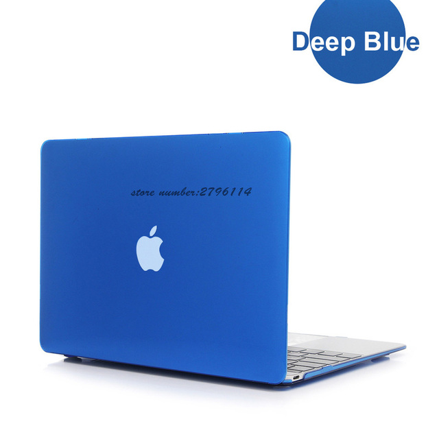 free shipping new nice deep blue crystal case for apple macbook air