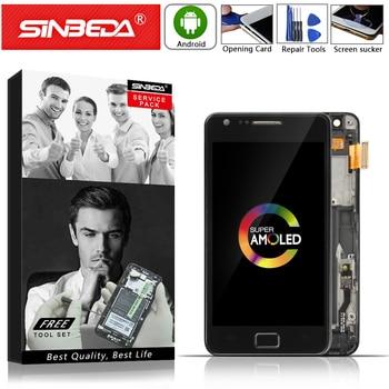"""4.3 """"Sinbeda AMOLED do SAMSUNG Galaxy S2 wyświetlacz LCD ekran dotykowy z ramką Digitizer dla SAMSUNG i9100 LCD S2 i9100 wyświetlacz @"""
