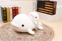 big size lovely foam dolphin toy big head white whale doll pillow gift about 70x30x40cm