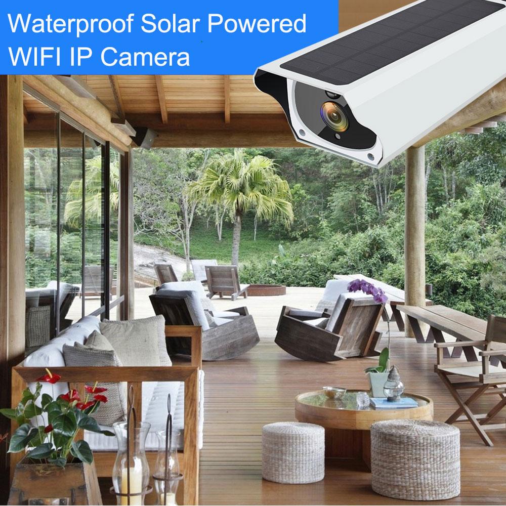 HTB16R0vaznuK1RkSmFPq6AuzFXao Solar WiFi IP Camera 1080P HD Outdoor Charging Battery Wireless Security  Camera PIR Motion Detection Bullet Surveillance CCTV