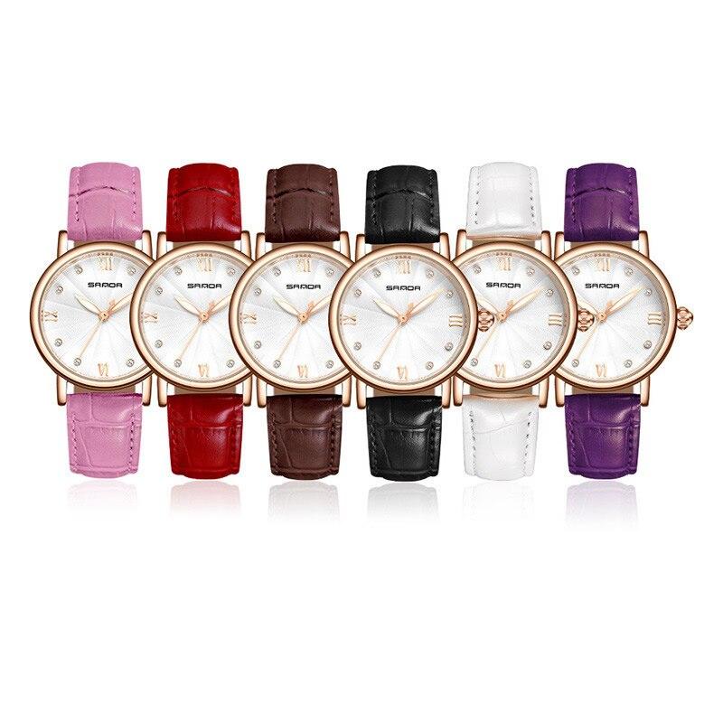 Quartz Women Wrist Watch Pu Leather Pink Rosefield Watches Relogio Feminino Round Fashion Ladies Clock Relojes Mujer 2018