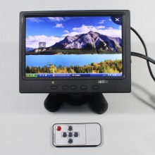 7inch Lcd monitor 1280*800 with HDMI+VGA+AV input signal +Europe Power supply for bus and desk monitor VS-T0702UNB-V1