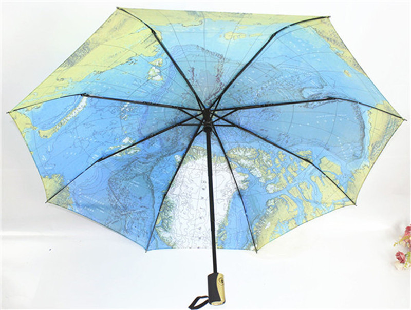 Auto Open /Auto Close UV-Coating Windproof 3 Fold Umbrella with Bag Rain Women Men Umbrellas