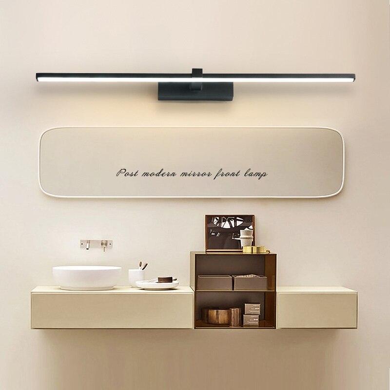 Led mirror light wall lamps bathroom white black waterproof flat Led modern wall lamp makeup mirror
