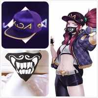 HOT LOL KDA Cosplay Akali Girl Boy Hat Cap Mask K/DA Group Cosplay Accessories Accessory Christmas Decoration For Costume